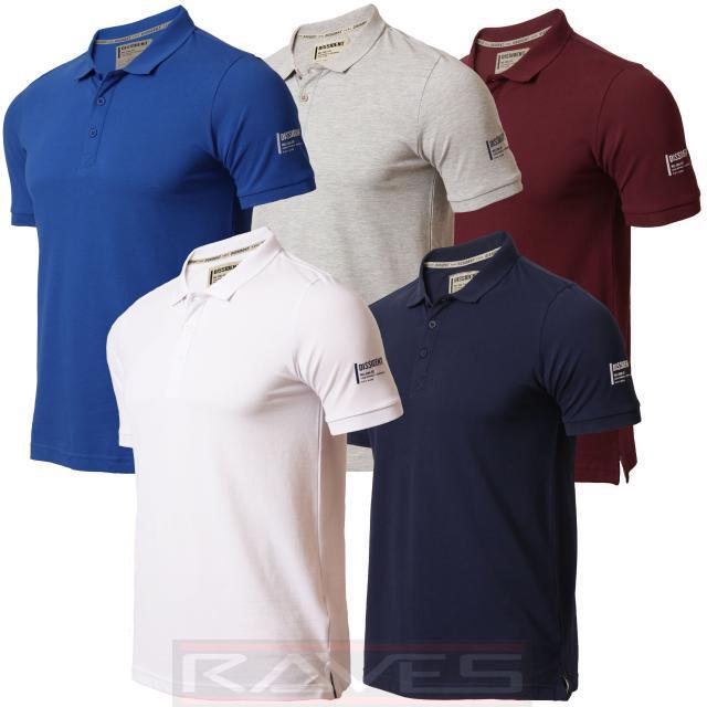 Mens Pique Polo Shirt T-shirt Dissident Short Sleeved Summer Cotton 1X4398