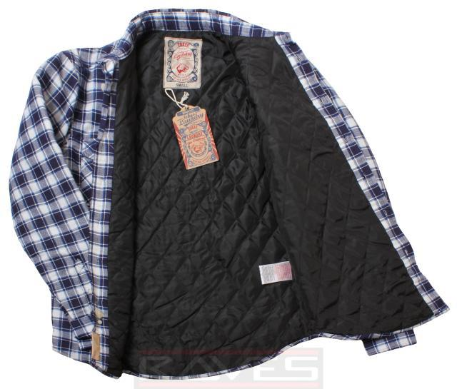 Mens Check Shirt Jacket Tokyo Laundry Diamond Quilted Lining ...