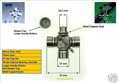 27mm x 74.6mm LDV Universal Joint Heavy Duty