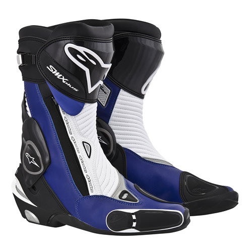 Alpinestars S-MX Plus Motorcycle Boots BLack/Blue/White | eBay