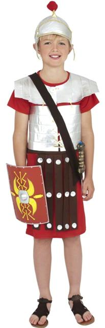 Boys Roman Soldier Costume Red and Silver Tunic with Helmet  sc 1 st  eBay & BOYS ROMAN SOLDIER FANCY DRESS COSTUME CHILDRENS GREEK GLADIATOR ...