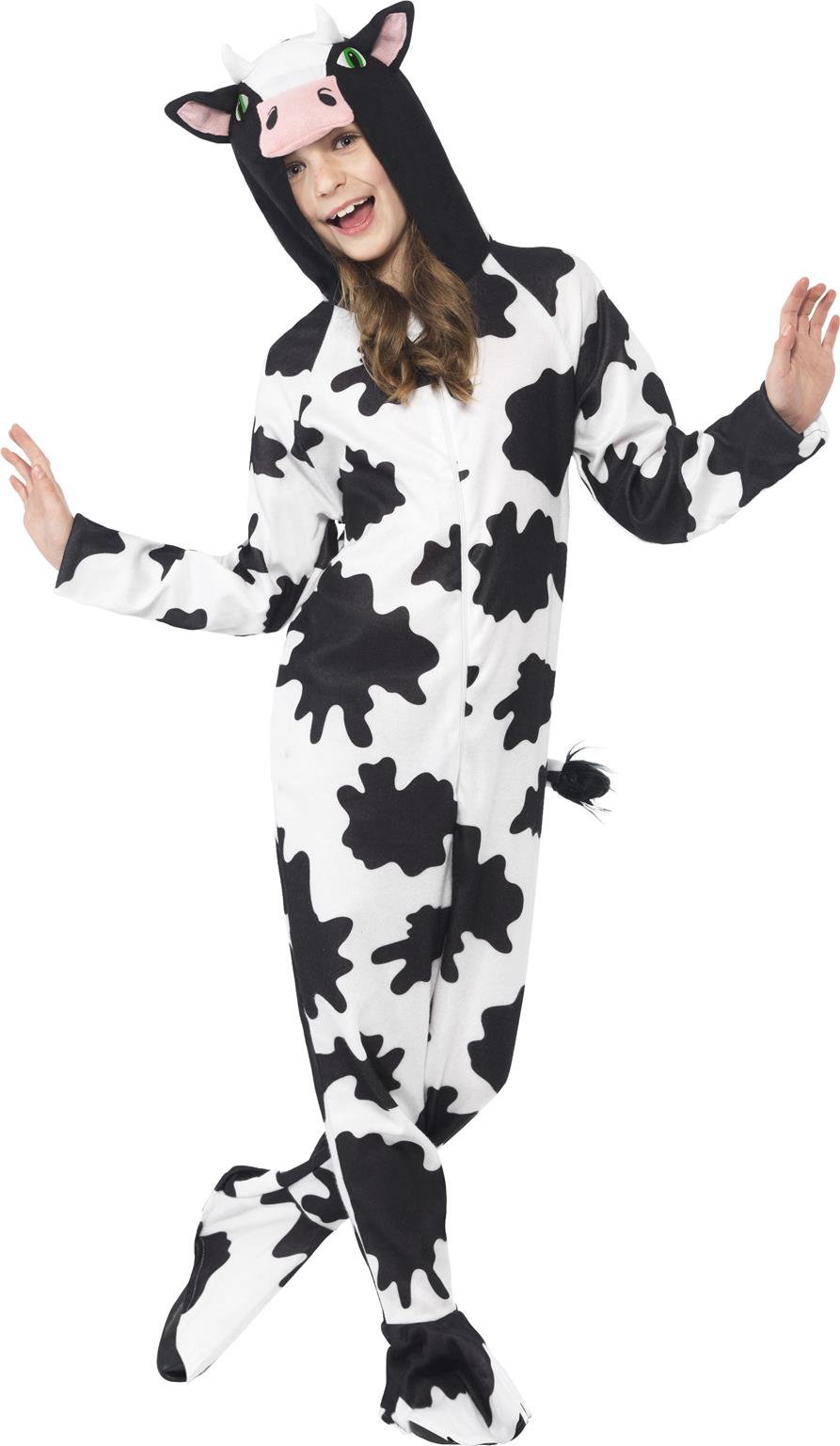 Adult Cow Costume Farmyard Animal Unisex Fancy Dress Outfit