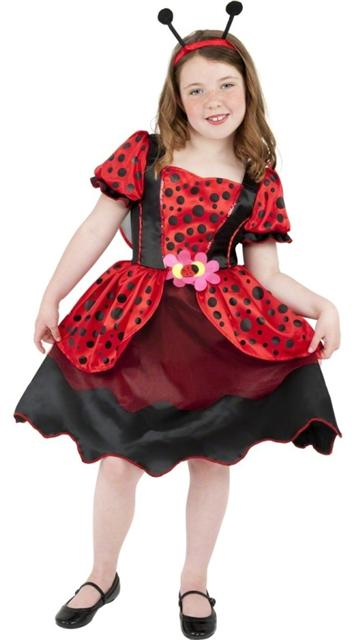 Kids Ladybug Costume Red and Black Dress with Headband and Wings  sc 1 st  eBay & GIRLS LITTLE LADY BIRD BUG FANCY DRESS COSTUME JAMES AND THE GIANT ...