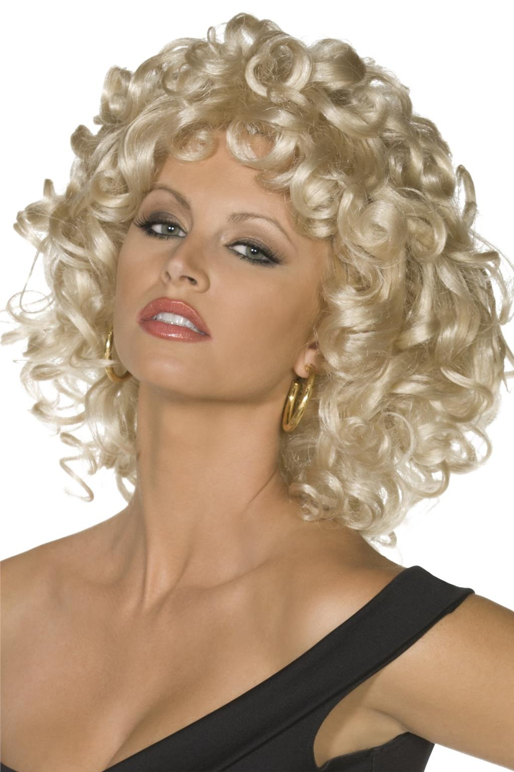 Details about LADIES 50 s SANDY LAST SCENE WIG WOMENS CURLED BLONDE GREASE  FANCY DRESS HAIRCUT cb3f4d969a
