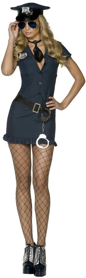 LADIES FEVER NAUGHTY LA COP FANCY DRESS COSTUME WOMENS USA POLICE UNIFORM OUTFIT