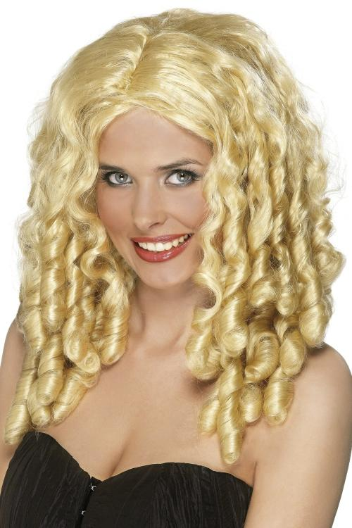 Ladies Long Curly Wig Fancy Dress With Spiral Curls Film