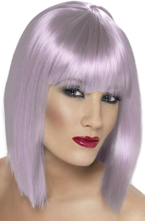 Ladies Short Blunt Long Bob Hair With Fringe Wig Glam
