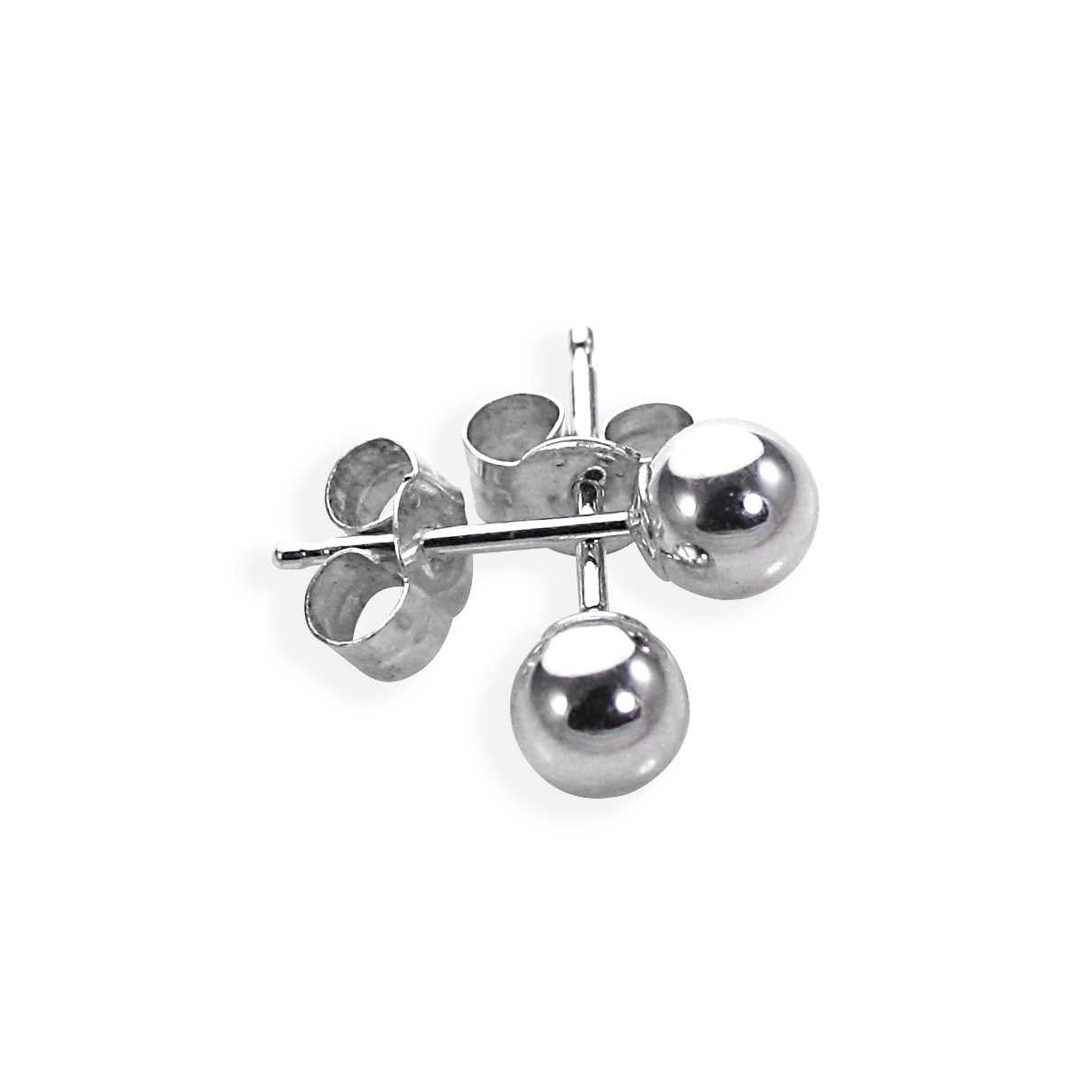 5afaa0c51 Details about 9ct White Gold Ball Stud Earrings 3mm - 6mm