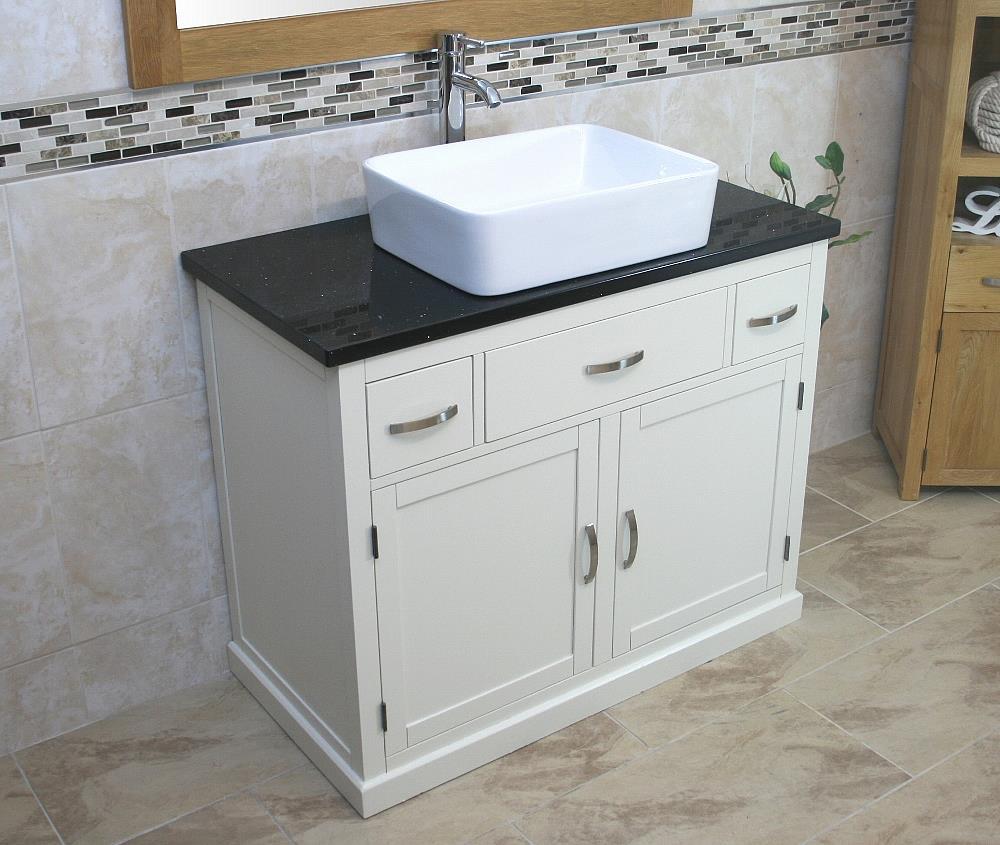 Bathroom Vanity Unit Painted Wood Wash Stand Black Quartz Ceramic Basin Ebay