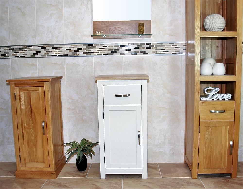Credenza Con Pensile : Arredamento oak mobili bagno piccolo armadietto vanità e