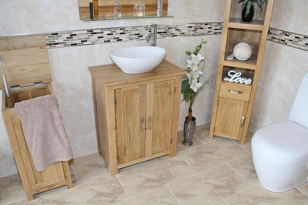 Solid Oak Bathroom Cabinet Oak Under Sink Bathroom Cabinet Bathroom Vanity Ebay