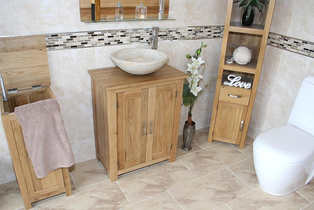 Small Bathroom Cabinet | Solid Oak Bathroom Furniture ...