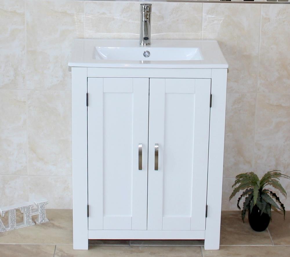 Slimline Bathroom Cabinet Vanity Unit Oak Top White Furniture