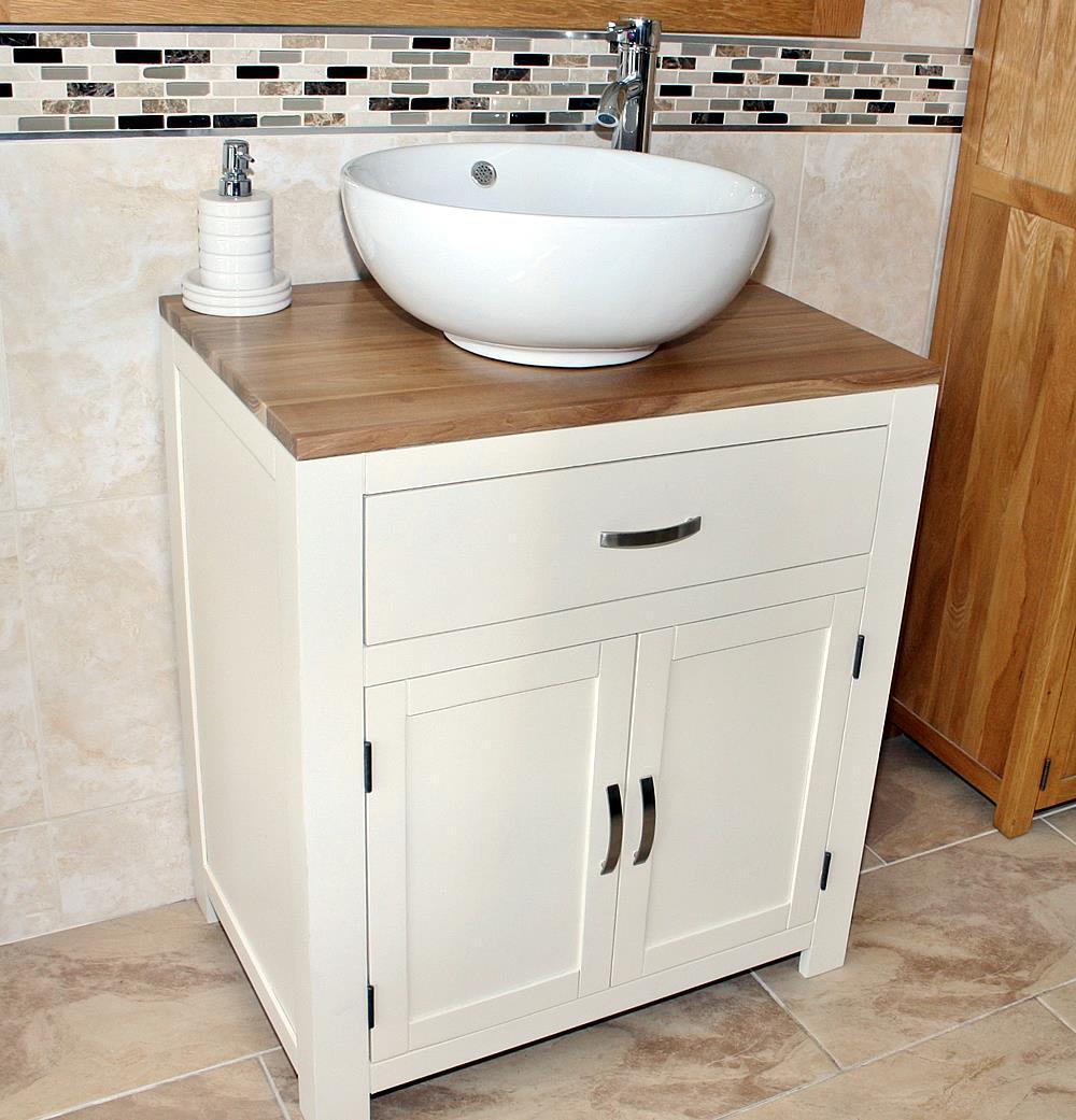 Bathroom Vanity Unit Painted Wood Wash Stand White Ceramic Basin 502pcbc Ebay