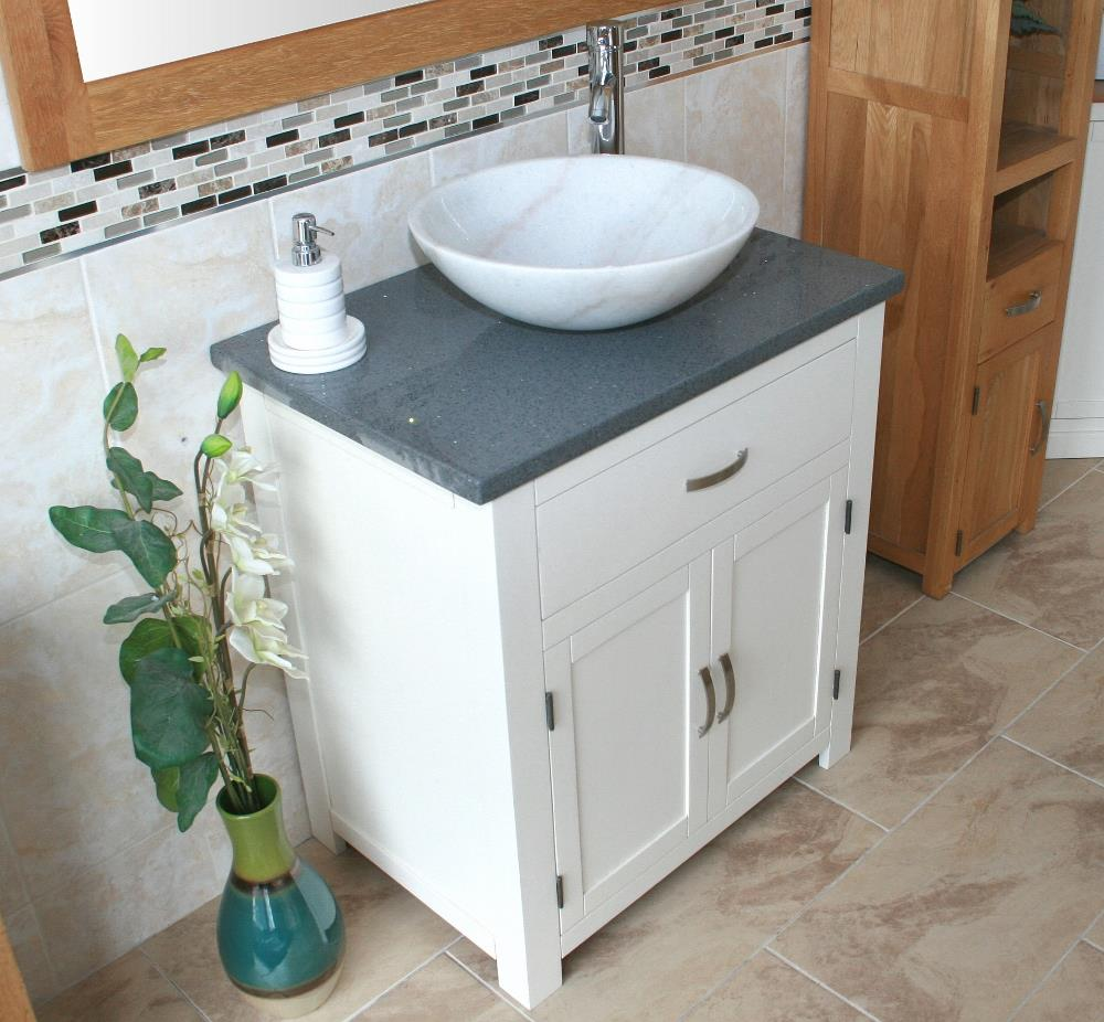 Bathroom vanity unit off white cream painted grey for Bathroom cabinets 500mm wide