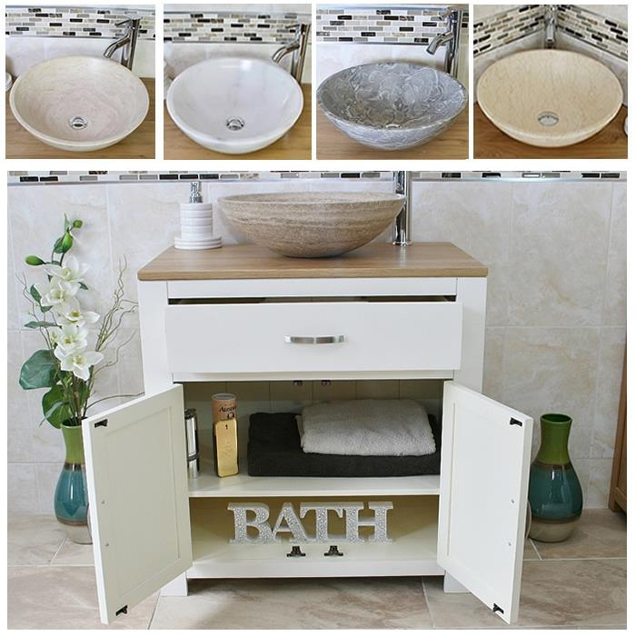 Bathroom Vanity Unit Wash Stand Marble Stone Basin 502PSBC EBay
