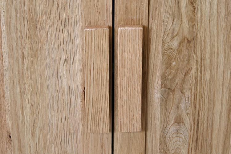 Oak Bathroom Furniture Vanity Unit Storage Cabinet Wide