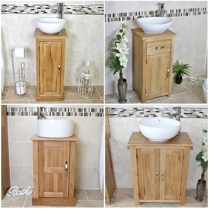 Moveable Solid Wood Ceramic Buffet Kitchen Sink Cabinet: Solid Oak Bathroom Cabinet