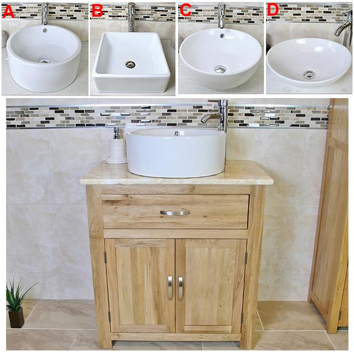solid oak bathroom vanity unit oak sink bathroom cabinet stone worktop inc ebay
