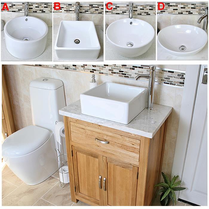 Moveable Solid Wood Ceramic Buffet Kitchen Sink Cabinet: Solid Oak Bathroom Vanity Unit