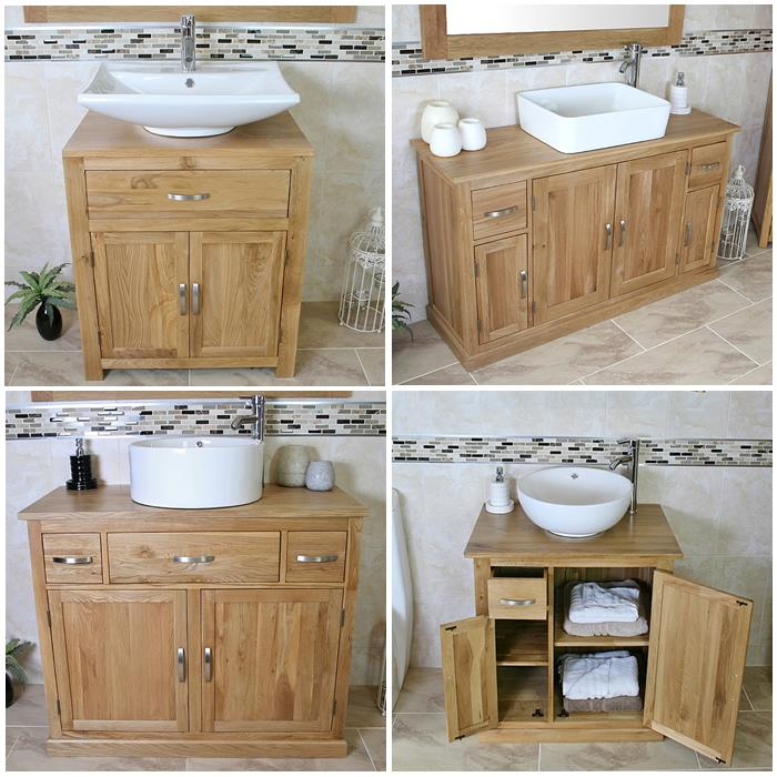 Moveable Solid Wood Ceramic Buffet Kitchen Sink Cabinet: Bathroom Vanity Unit