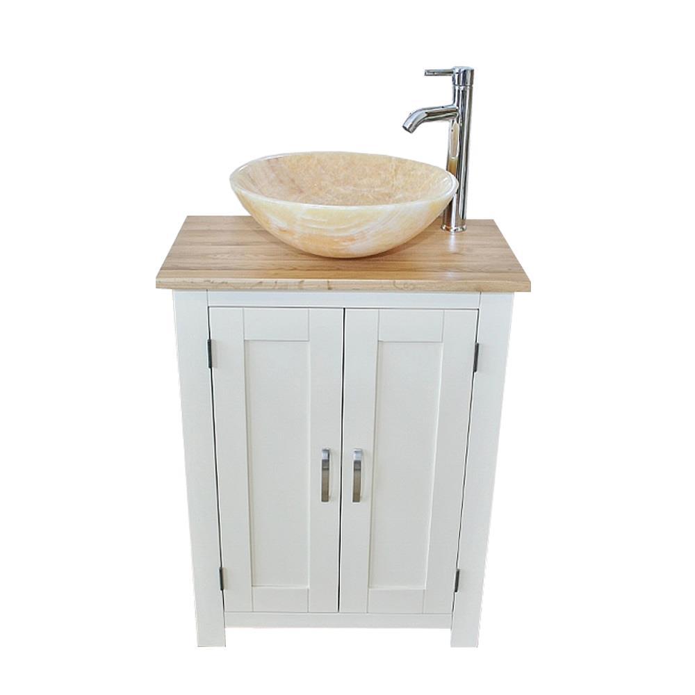 Slimline Bathroom Cabinet Vanity Unit Oak Top White Furniture Onyx Basin Set Ebay