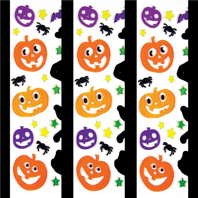 Halloween gel window stickers scary decoration ghost bat