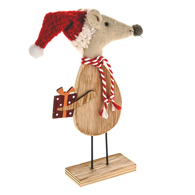 wooden standing mice christmas xmas novelty decorations choose - Christmas Mouse Decorations