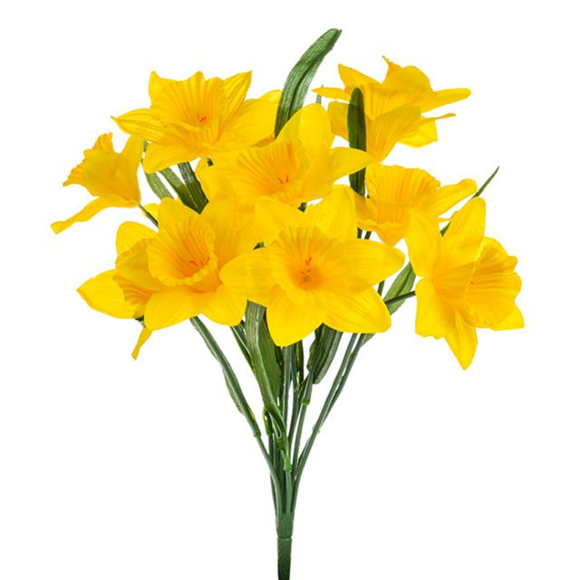 artificial silk yellow daffodil bush decorative easter plant clip art photo planet clipart