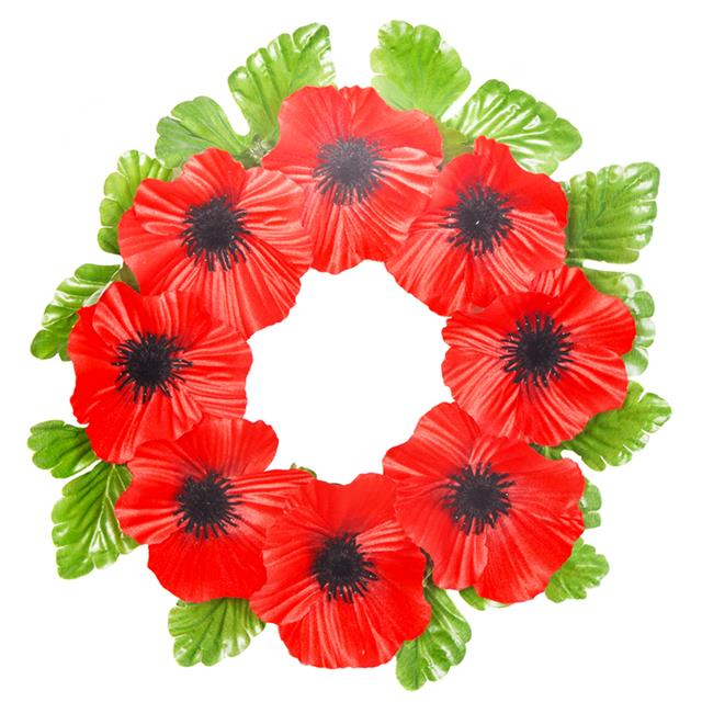 10x artificial 45cm poppy flowers wreath red or white 10x artificial 45cm poppy flowers wreath red or mightylinksfo