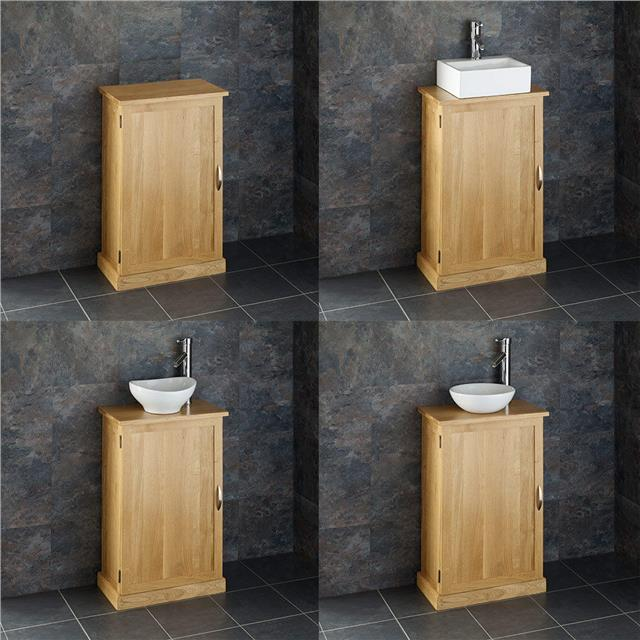 Solid Oak Bathroom Furniture Vanity Cabinet Cupboard Storage Unit 370mm By 350mm Ebay