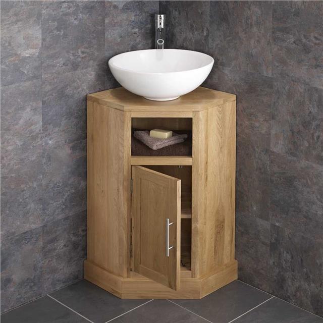 Cube solid oak freestanding 55cm washstand sink washbasin bathroom cabinet basin ebay