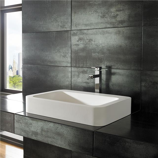 40cm By 40cm Square Solid Surface White Counter Top Square Bathroom Sink Basin Ebay