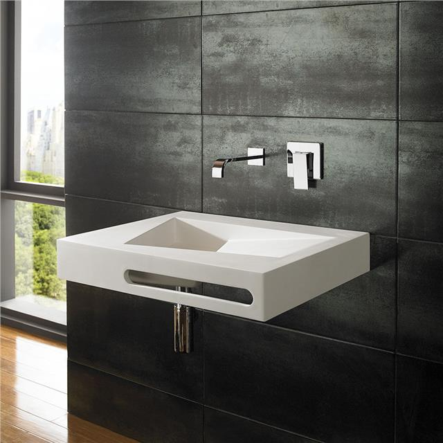 Wall mounted belfast sink with towel rail basin sink bathroom cloakroom ebay - Slim cloakroom basin ...