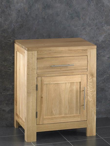 Oak Bathroom Vanity Cabinet 60cm Wide Vanity Furniture Unit Sink Ceramic Bowl Ebay