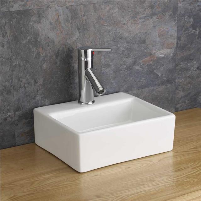46cm x 46cm solid oak bathroom cabinet sink basin bowl vanity unit