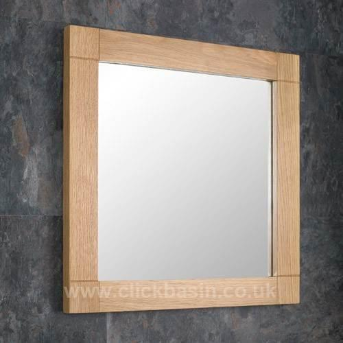 Oak Mirror 90cm by 60cm Conservatory hallway home//office//study Wall Mounted
