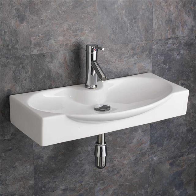Wall Mounted Belfast Sink With Towel Rail Basin Sink