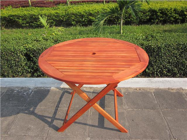 wooden folding round garden patio table folding wood chairs furniture