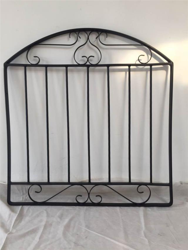 Black wrought iron metal garden gate small gates modern