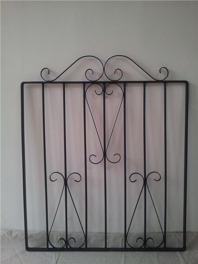 Black Wrought Iron Metal Garden Gate Small Gates Modern
