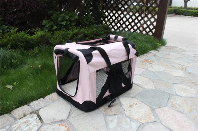 Dog cat fabric portable carrier folding crate cage pet for Xl dog travel crate