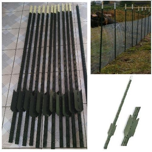 Steel Stakes Metal Fence Post Posts Studded Barrier