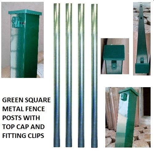 Metal Fence Fencing Post Green Garden Fence Metal Post 2