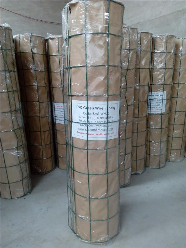 Pvc Green Coated Garden Mesh Wire Fence Fencing 0 9 1 2 1 8m 10m 20m Ebay