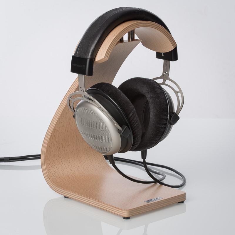 Headphone Stand Designs : Rooms design fs headphone stand beech finish