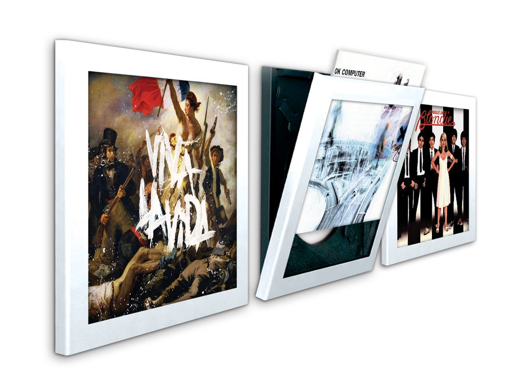 Art Vinyl Play & Display Flip Frame - Triple Pack White | eBay