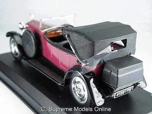 = Hispano Suiza Torpedo modèle de voiture échelle 1//43 Bordeaux//couleur noir par exemple T3412Z