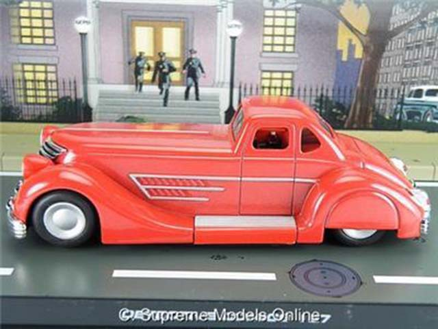 = BATMAN BATMOBILE 30/'S DC COMIC CAR 1//43RD SCALE RED COLOUR EXAMPLE PKD T3412Z