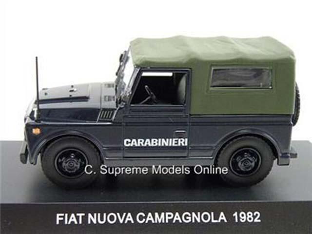 "DIE CAST /"" FIAT NUOVA CAMPAGNOLA 1982 /"" SCALA 1//43 CARABINIERI"